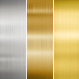 Metal texture gold, silver and bronze Royalty Free Stock Image