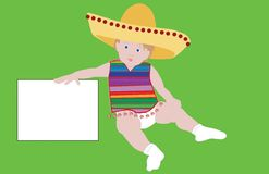 Mexican baby Stock Image