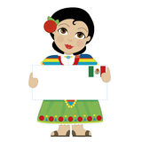 Mexican Girl Sign Royalty Free Stock Image