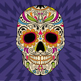 Mexican skull, the original pattern. vector Royalty Free Stock Photo