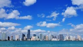 Miami skyline time lapse stock video footage