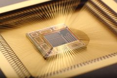 Microchip inside Royalty Free Stock Images