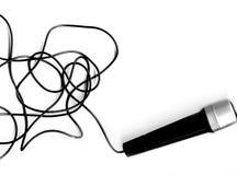 Microfono + cavo Immagine Stock