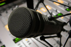 Microphone Detail Royalty Free Stock Photos