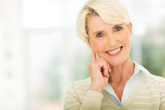 Mid age lady Royalty Free Stock Photography