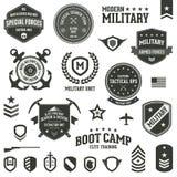 Military badges Stock Photos