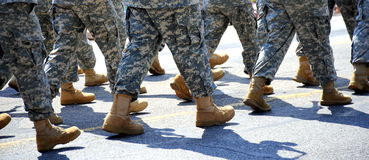 Military parade. Royalty Free Stock Photos