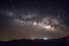 Milky Way Galaxy and stars above Negev Desert Israel Stock Image