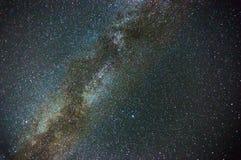 Milky way in night sky Stock Photos