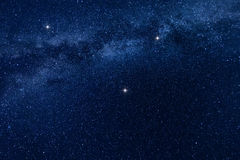 Milky way stars background Royalty Free Stock Photos