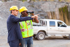 Mine manager foreman Royalty Free Stock Photography