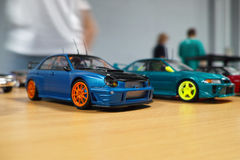 Miniature of two cars Royalty Free Stock Photography