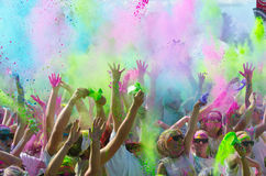 Minneapolis color run with participants Royalty Free Stock Image