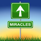 Miracles Sign Indicates Message Religion And Belief Royalty Free Stock Photography