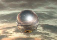 Mirror sphere Royalty Free Stock Image