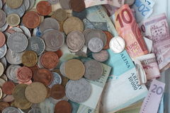 Mixed currency Stock Photography