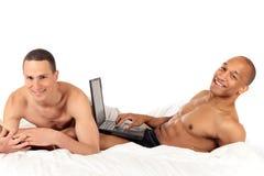 Mixed ethnicity gay couple Stock Photos