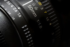 50mm Camera Lens for Photography Video Stock Photography