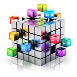 Mobile applications and media technology concept Stock Photos