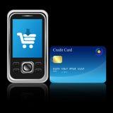 Mobile e-commerce Stock Photography