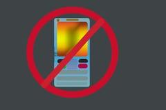 Mobile outre d'icône et de logo Image libre de droits