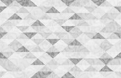 Modèle de marbre blanc noir de triangle Photo stock