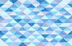 Modèle de marbre en bon état de triangle de bleu Images stock