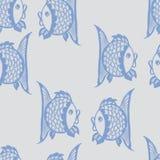 Modèle graphique sans couture avec des poissons Images stock