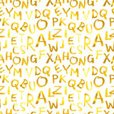 Modèle sans couture des lettres d'or Image libre de droits