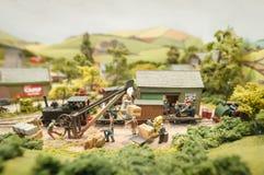 Model freight yard Stock Image