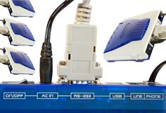 Modem connection Stock Image