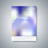 Modern abstract layout brochure, magazine, flyer Stock Images