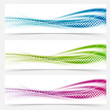 Modern abstract swoosh smooth vivid dotted line headers collecti Royalty Free Stock Images