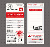 Modern Boarding Pass Wedding Invitation design Template Vector Stock Photography