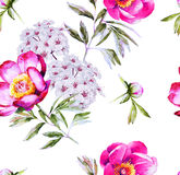 Modern floral blossom seamless pattern Royalty Free Stock Photos