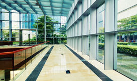 Modern glass commercial building Royalty Free Stock Image