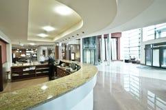 Modern hotel reception desk Royalty Free Stock Photos