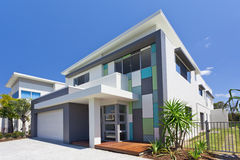 Modern house front Royalty Free Stock Photos