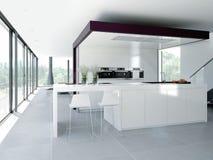 Modern kitchen interior. design concept. 3d Royalty Free Stock Photo