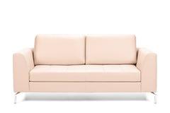 Modern leather sofa Royalty Free Stock Photos