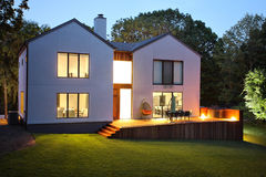 Modern luxury house and garden Stock Images