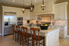 Modern luxury kitchen Stock Photography