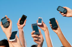 Modern mobile phones Royalty Free Stock Images