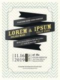 Modern Ribbon banner Wedding invitation template Stock Photography