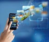 Modern technology smartphone Stock Photos