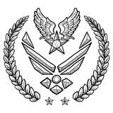 Modern US Air Force Insignia with Wreath Royalty Free Stock Photography
