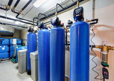 Modern water treatment system for industrial boiler Stock Photography