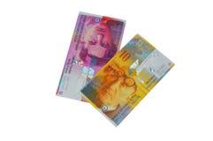 Moeda do franco suíço do CHF Imagem de Stock