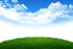 Mondo del cielo e dell'erba Fotografia Stock Libera da Diritti