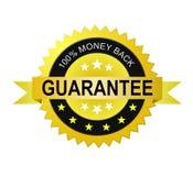 Money back guarantee label Royalty Free Stock Photo